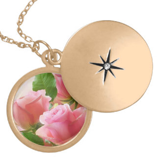 Delicate Flowers Locket Necklace