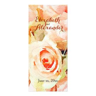 Delicate Peach Roses Watercolor Menu