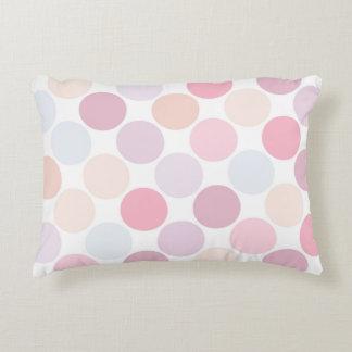 Delicate Purple Colour Polka Dot Decorative Pillow Accent Cushion