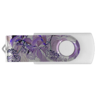 Delicate purple vine swivel USB 3.0 flash drive