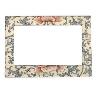 Delicate Vintage Floral Art Magnetic Frame