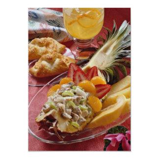 Delicious Festive pineapple salad 13 Cm X 18 Cm Invitation Card