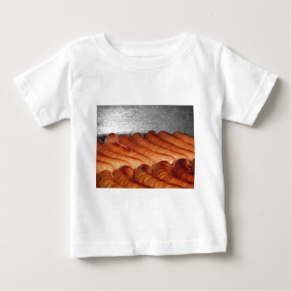 Delicious red baked sausages in row baby T-Shirt