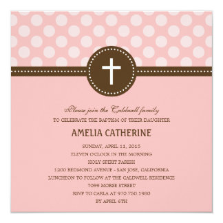 Delightful Dots Baptism/Christening Invitation