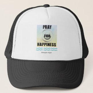 Delphic Maxim PRAY FOR HAPPINESS Trucker Hat