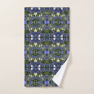 Delpininiums and Daisies  and Hand Towel