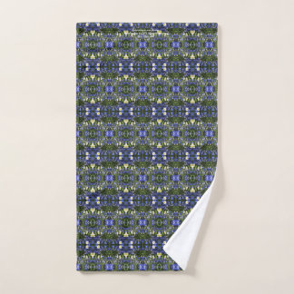 Delpininiums and Daisies, geometric Hand Towel