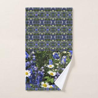 Delpininiums and Daisies Hand Towel