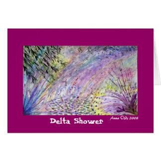 Delta Shower Greeting Card