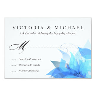Deluxe 2-Sided Floral RSVP 9 Cm X 13 Cm Invitation Card