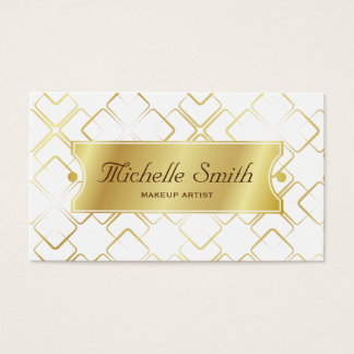 Deluxe Faux Gold Square Pattern Appointment cards