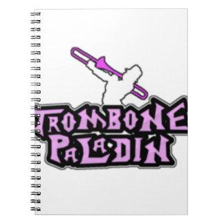 Deluxe Trombone Paladin Logo Notebooks