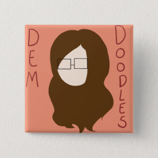 Dem Doodles Logo 15 Cm Square Badge