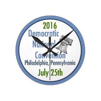 DEMOCRATIC CONVENTION ROUND CLOCK