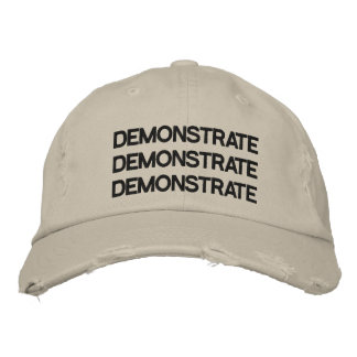 Demonstrate Adjustable Hat Distressed Stone Embroidered Hat