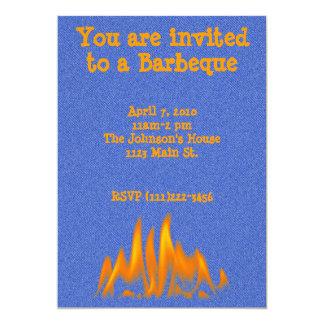Denim and Flames Invitation