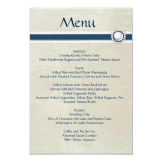 Denim wedding menu card
