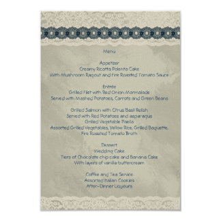 Denim wedding menu II Card