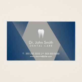 Dental Appointment Modern Blue Dentist Business Card