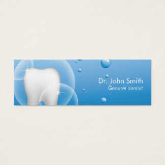 Dental Office Tooth & Clean Water Dentist Name Tag Mini Business Card