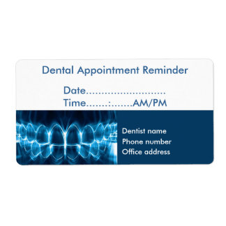 Dentist Appointment Reminder Shipping Label