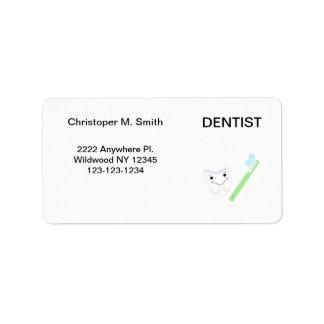 Dentist - Dental Office Address Label