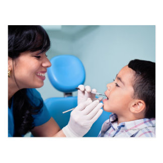 DENTIST, DOCTOR AND PATIENCE RELATIONSHIP POSTCARD