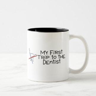 Dentist My First Trip To The Dentist Two-Tone Coffee Mug