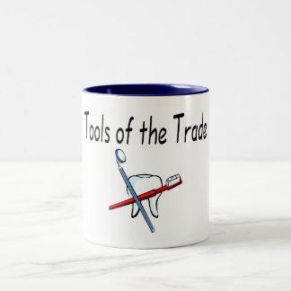 Dentist Tools of the Trade Two-Tone Coffee Mug