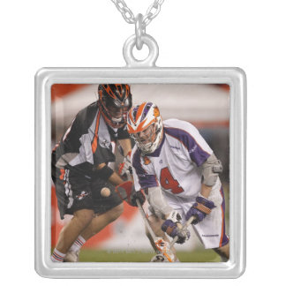 DENVER, CO - MAY 14:  Geoff Snider #4 3 Silver Plated Necklace