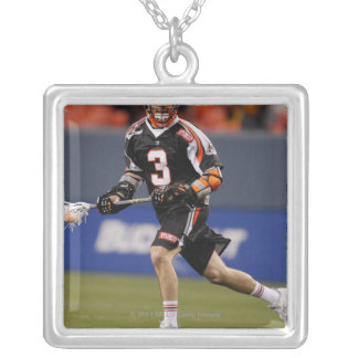 DENVER, CO - MAY 14:  Steve Giannone #3 2 Silver Plated Necklace