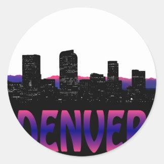Denver Colorado Skyline Classic Round Sticker