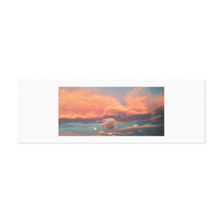 Denver Moon in the Morning Canvas Prints