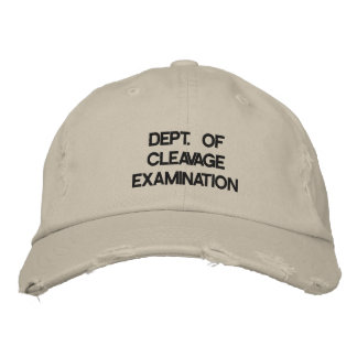 Department of Cleavage Examination Embroidered Hats