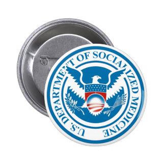 Department of Socialised Medicine 6 Cm Round Badge