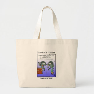 Depressed Salmon Funny Cards Mugs & Gifts Large Tote Bag