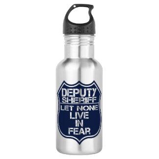 Deputy Sheriff Let None Live In Fear Motto 532 Ml Water Bottle