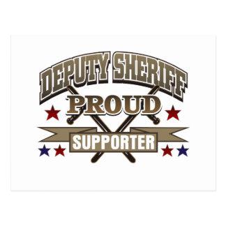 Deputy Sheriff Proud Supporter Postcard