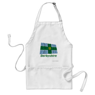 Derbyshire Waving Flag with Name Standard Apron