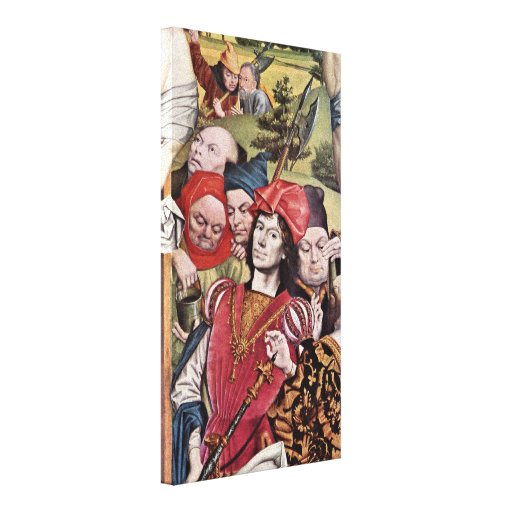 Derick Baegert - Captain under cross fragment Gallery Wrap Canvas