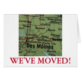 Des Moines We've Moved address announcement