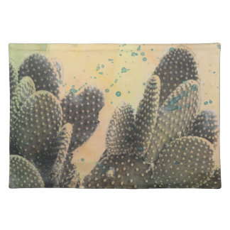 Desert Cactus | Green Splatter Placemat