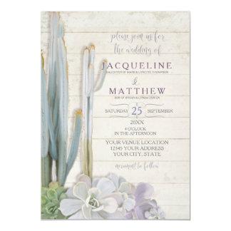 Desert Cactus Succulent Modern Typography Script 13 Cm X 18 Cm Invitation Card