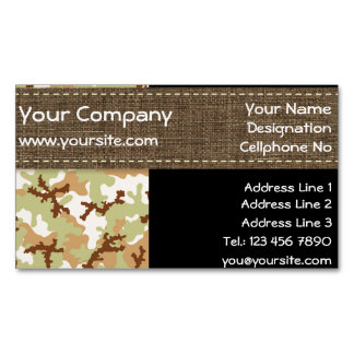 Desert camouflage magnetic business card