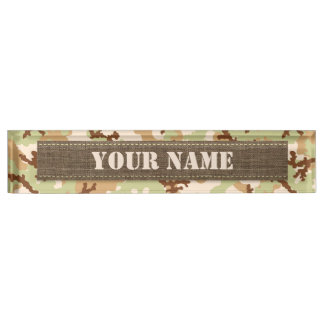 Desert camouflage name plates