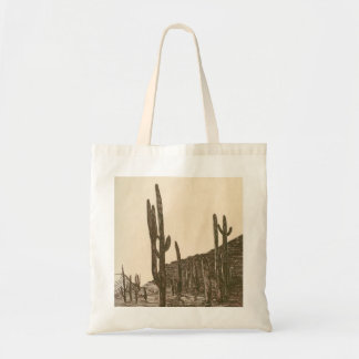 Desert evening budget tote bag