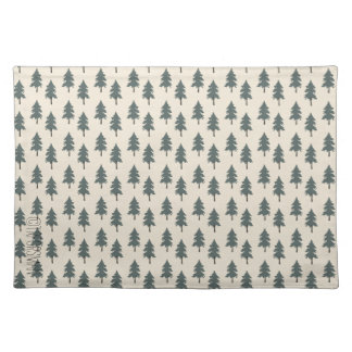 Desert LIfe Green forest trees placemat