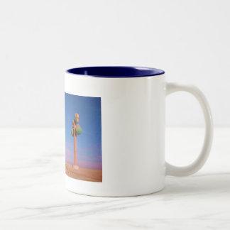 desert sunrise route 66 Two-Tone coffee mug