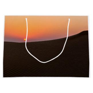 Desert sunset in Dubai Large Gift Bag
