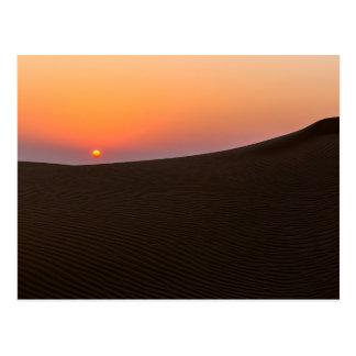 Desert sunset in Dubai Postcard